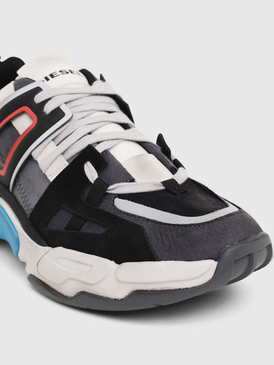 Multilayer sneakers in mix materials (Gry/Wht)