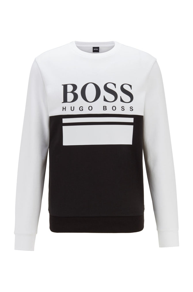 Hugo Boss - Slim-fit sweater with printed logo artwork