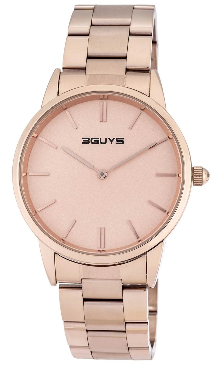3GUYS 3G03305 Rose Gold Stainless Steel Bracelet - Κοσμηματοπωλείο Goldy