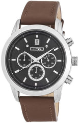 3GUYS 3G31103 Brown Leather Chronograph - Κοσμηματοπωλείο Goldy