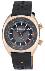 3GUYS 3G77509 Black Leather Strap - Goldy Jewelry Store