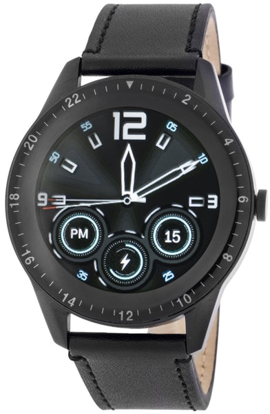 3GUYS 3GW3021 Smartwatch Black Leather Strap - Κοσμηματοπωλείο Goldy