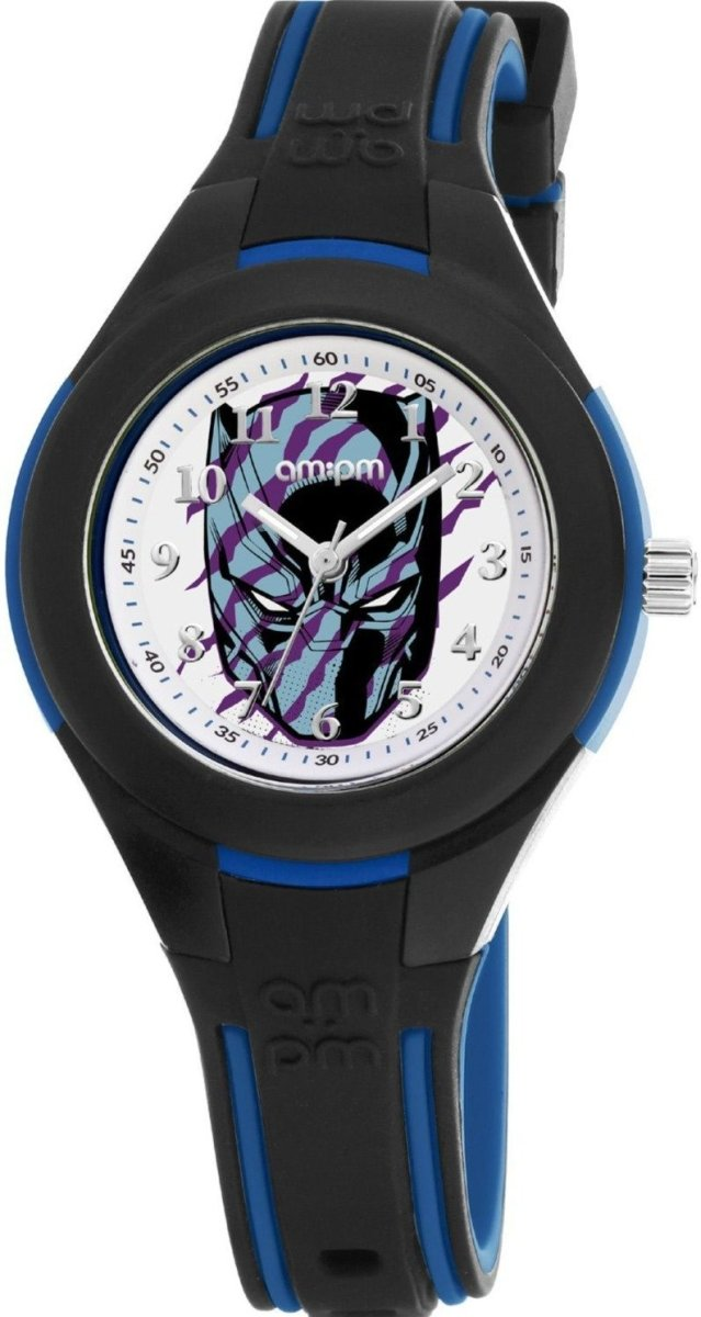 AM:PM MP199-K645 Marvel Black Panther Two Tone Silicone Strap - Κοσμηματοπωλείο Goldy