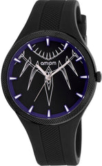 AM: PM MP200-U648 Marvel Black Panther Black Silicone Strap - Goldy Jewelry Store