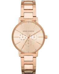Armani Exchange AX5552 Lola Rose Gold Stainless Steel Watch - Κοσμηματοπωλείο Goldy