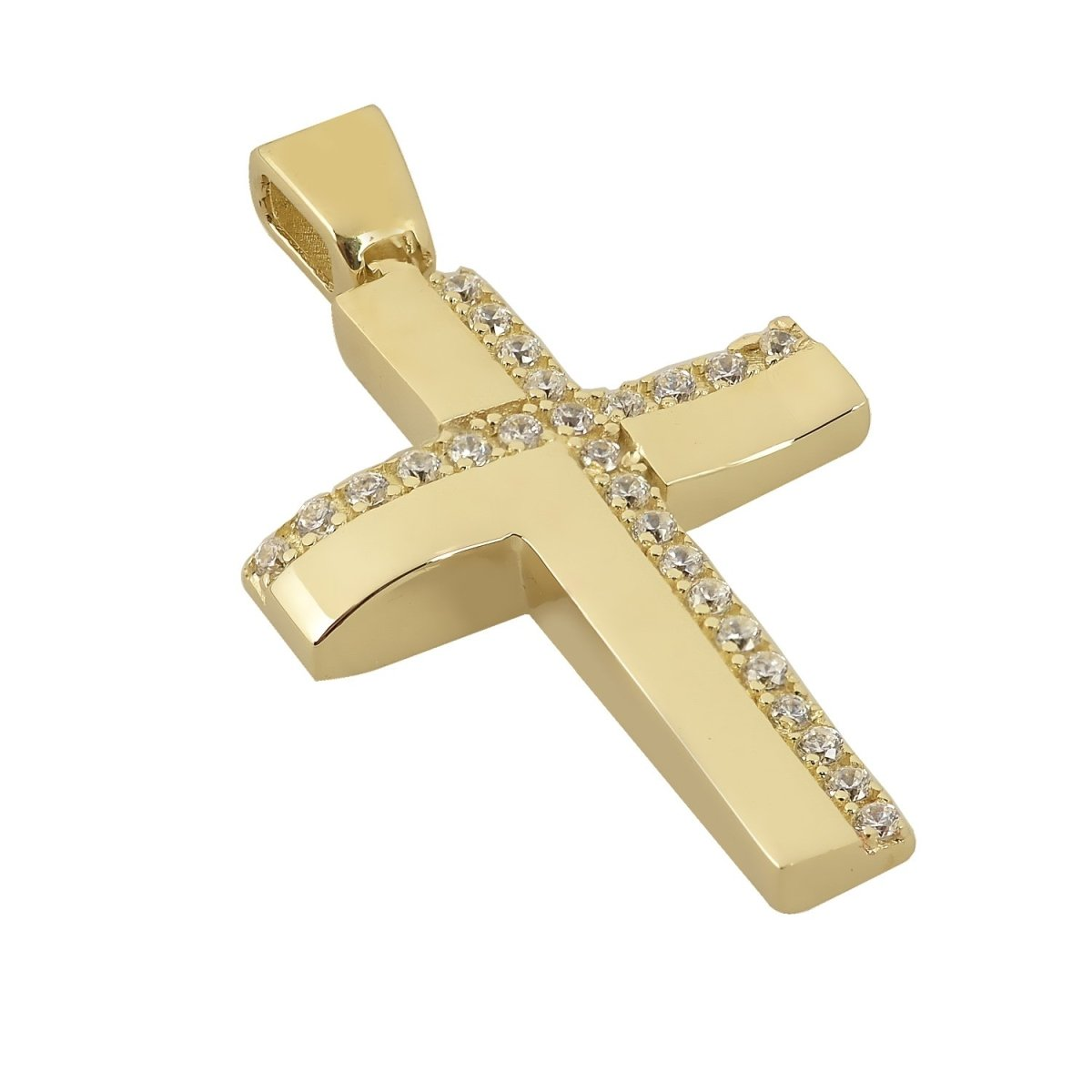 Christening Cross STA4443 Double Sided Gold K14 - Goldy Jewelry Store