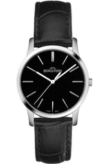 Bergstern B008L049 Harmony Black Leather Strap - Κοσμηματοπωλείο Goldy