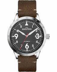 Bergstern B057G262 Harmony Automatic Brown Leather Strap - Jewelry Goldy