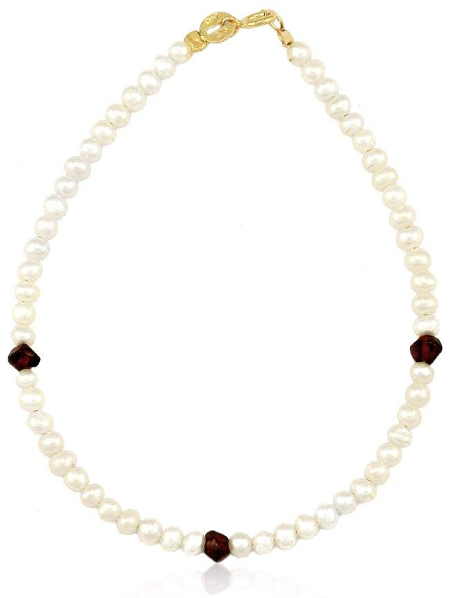 BR11003 Gold Bracelet with Pearl - Goldy Jewelry Store