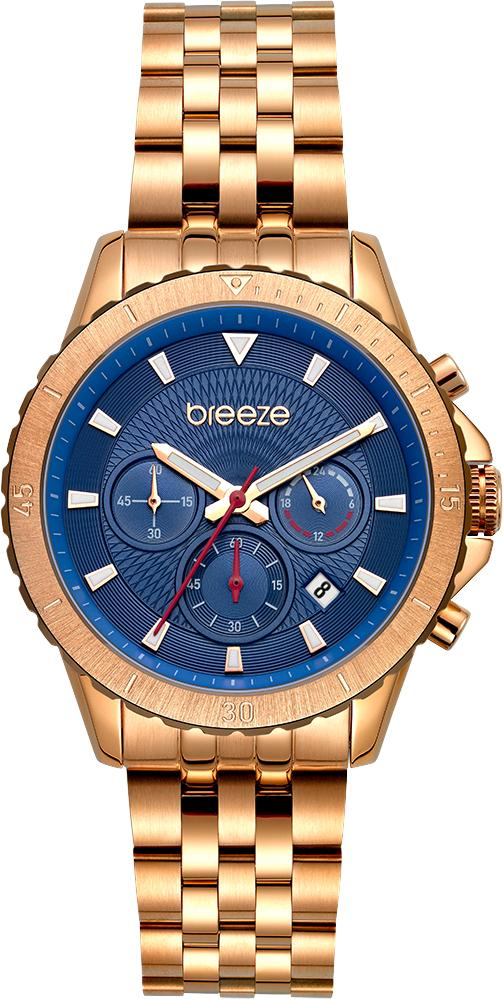 BREEZE 212131.3 Invernia Chronograph Rose Gold Stainless Steel Bracelet - Jewelry Store Goldy