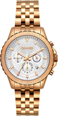 BREEZE 212131.4 Invernia Chronograph Rose Gold Stainless Steel Bracelet - Jewelry Store Goldy