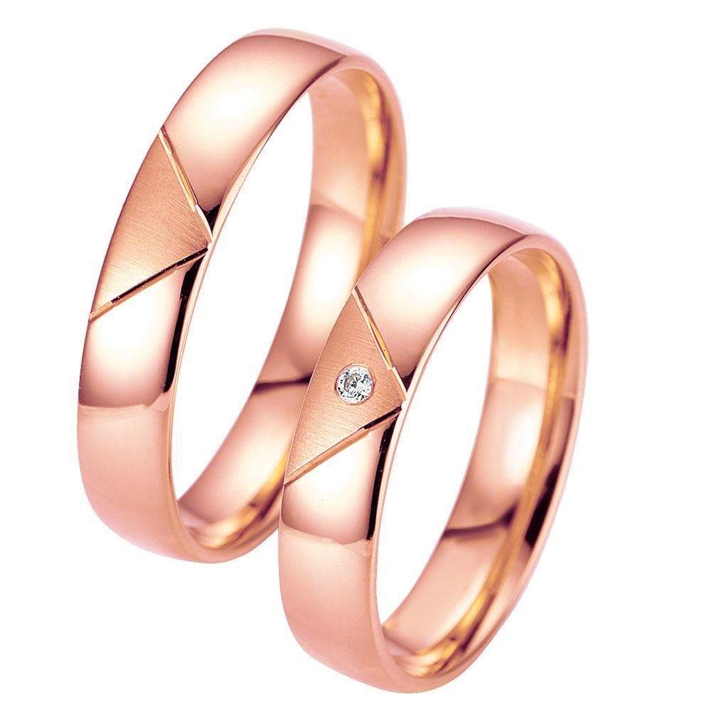 Breuning Smart Line 7007-7008 Gold Wedding Rings - Goldy Jewelry Store