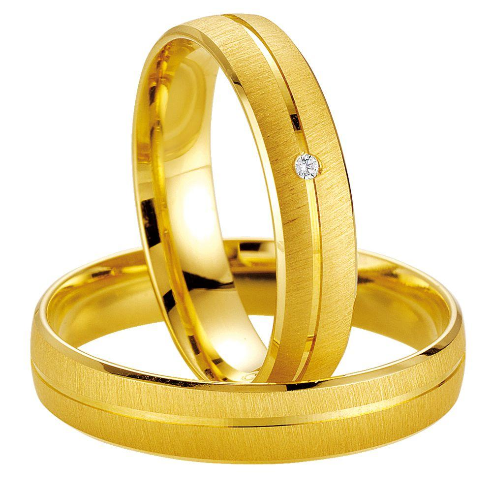 Breuning Smart Line 7009-7010 Gold Wedding Rings - Goldy Jewelry Store
