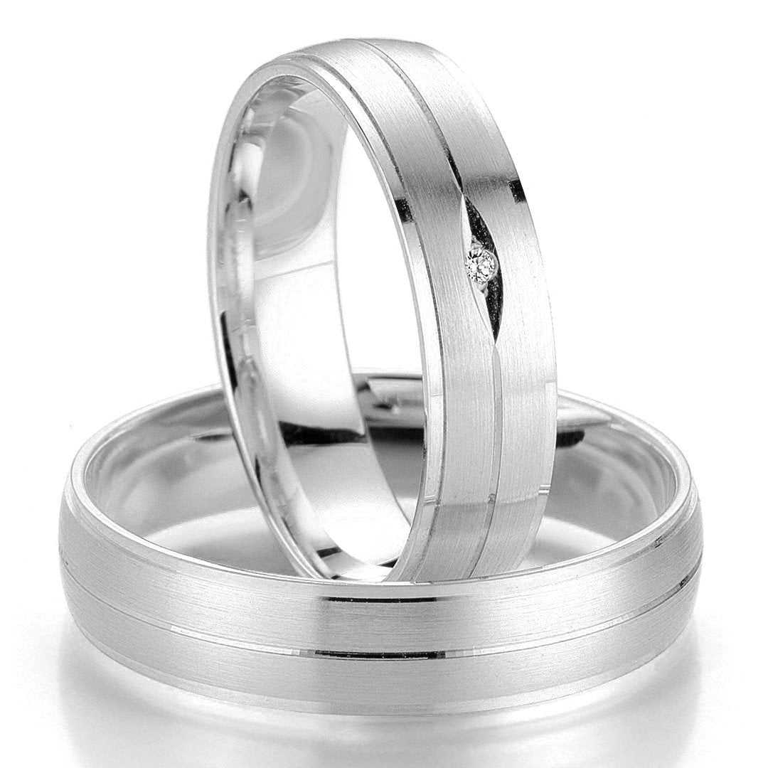 Breuning Smart Line 7017-7018 Gold Wedding Rings - Goldy Jewelry Store
