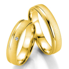 Breuning Smart Line 7019-7020 White Gold Wedding Rings - Goldy Jewelry Store