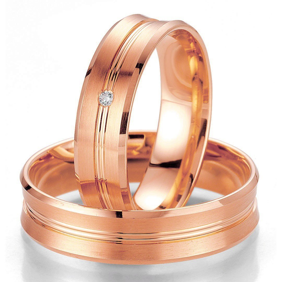 Breuning Smart Line 7021-7022 Gold Wedding Rings - Goldy Jewelry Store