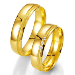 Breuning Smart Line 7023-7024 Gold Wedding Rings - Goldy Jewelry Store