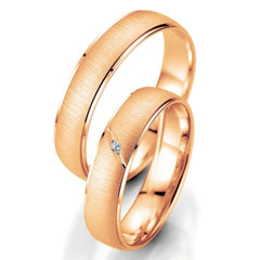 Breuning Smart Line 7025-7026 White Gold Wedding Rings - Goldy Jewelry Store