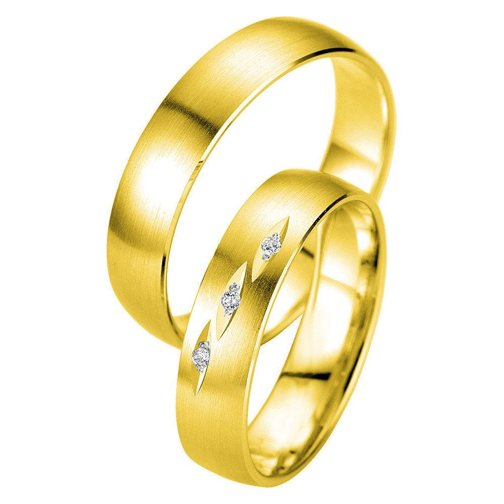 Breuning Smart Line 7031-7032 White Gold Wedding Rings - Goldy Jewelry Store
