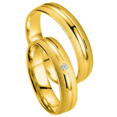 Breuning Smart Line 7033-7034 White Gold Wedding Rings - Goldy Jewelry Store