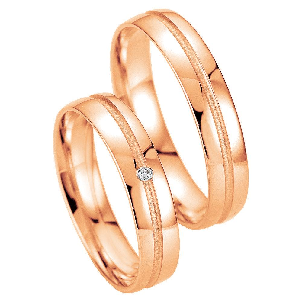 Breuning Smart Line 7037-7038 White Gold Wedding Rings - Goldy Jewelry Store