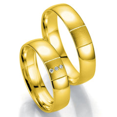 Breuning Smart Line 7047-7048 White Gold Wedding Rings - Goldy Jewelry Store