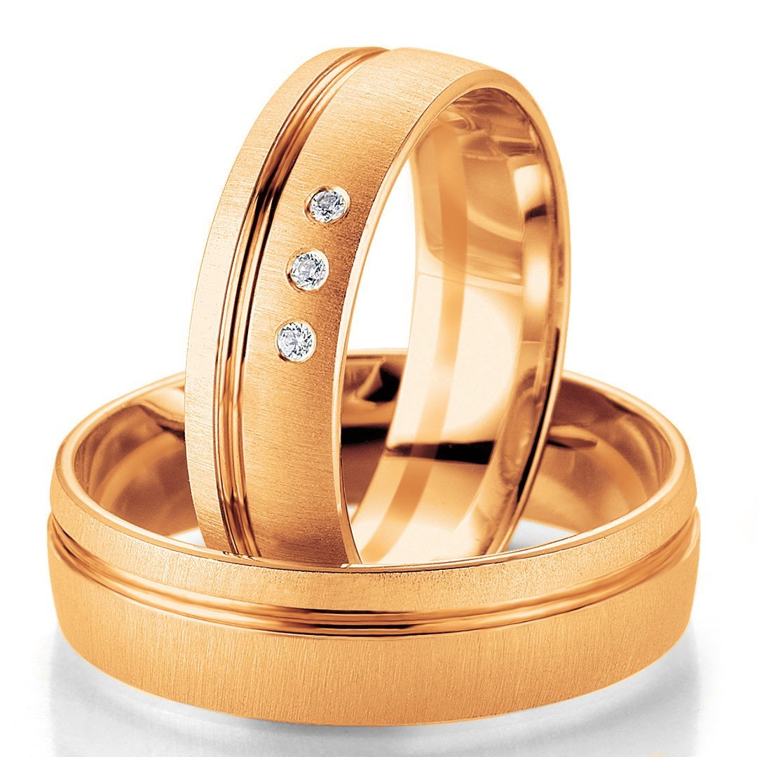 Breuning Smart Line 7061-7062 Gold Bicolor Wedding Rings - Goldy Jewelry Store