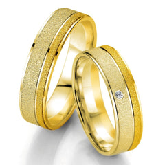 Breuning Smart Line 7065-7066 Gold Bicolor Wedding Rings - Goldy Jewelry Store