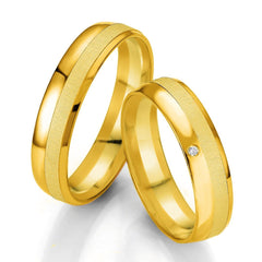 Breuning Smart Line 7069-7070 Gold Bicolor Wedding Rings - Goldy Jewelry Store