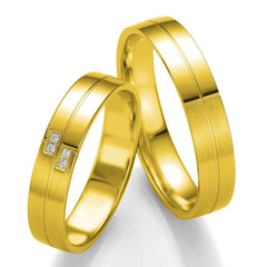 Breuning Smart Line Added Lines 7079-7080 White Gold Wedding Rings - Goldy Jewelry