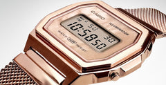 CASIO A-1000MPG-9EF Vintage Rose Gold Stainless Steel Watch - Κοσμηματοπωλείο Goldy