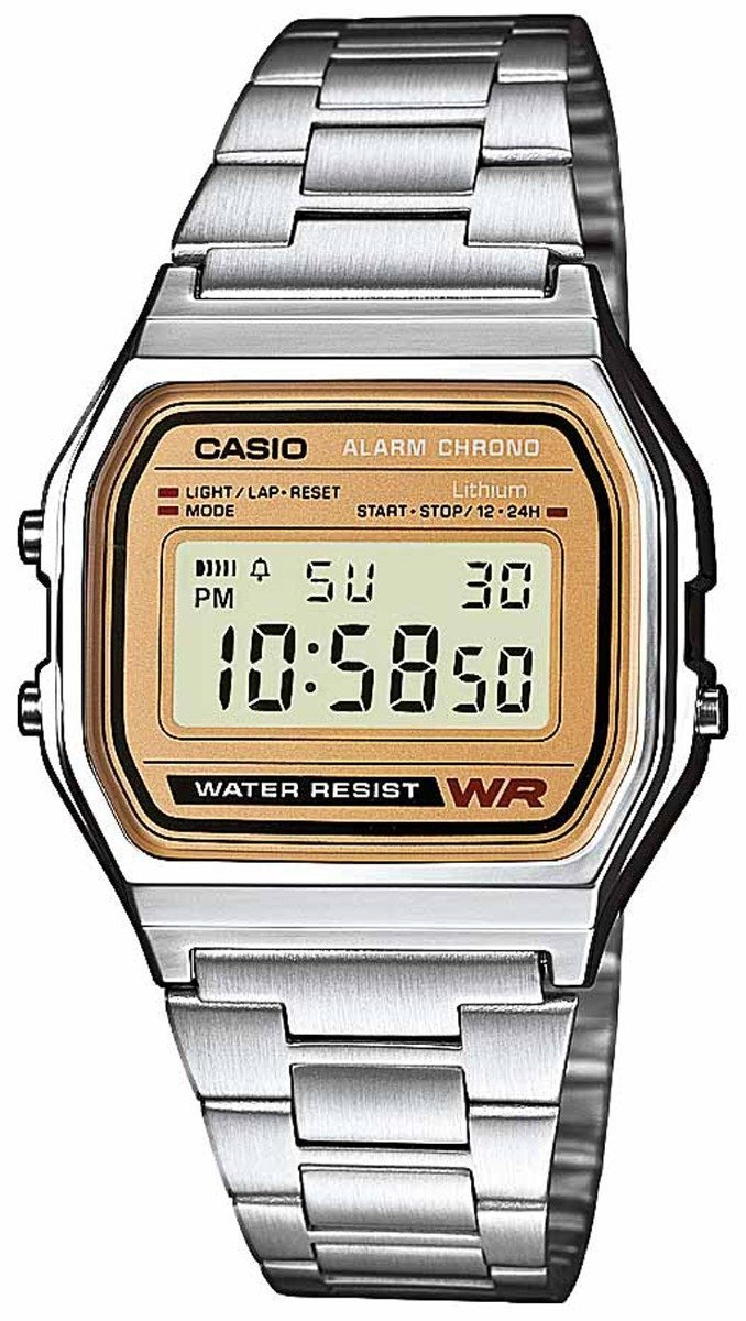 CASIO A-158WEA-9EF Vintage Stainless Steel Watch - Goldy Jewelry
