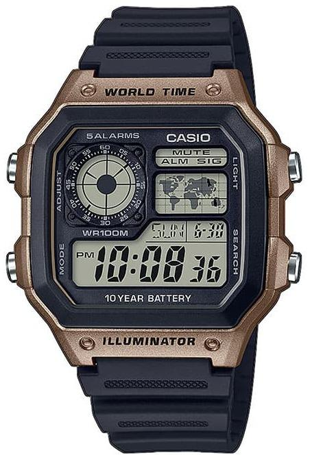 Casio AE-1200WH-5AVEF Digital Blue Rubber Strap - Κοσμηματοπωλείο Goldy