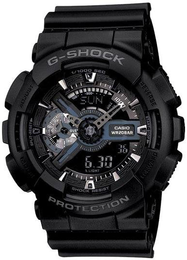 Casio GA-110-1BER G-Shock Black Rubber Strap - Κοσμηματοπωλείο Goldy
