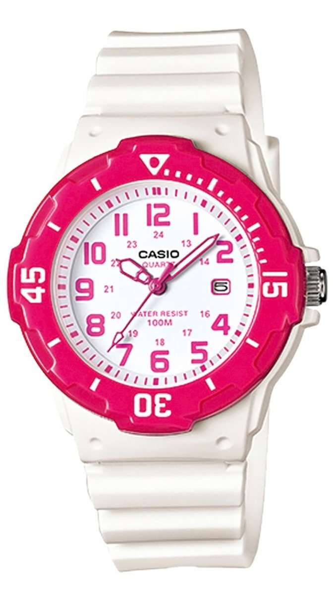 CASIO LRW-200H-4BVEF Lady's White Rubber Strap - Κοσμηματοπωλείο Goldy