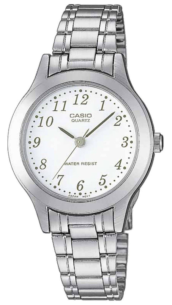CASIO LTP-1128PA-7BEF Lady's Stainless Steel Watch - Κοσμηματοπωλείο Goldy
