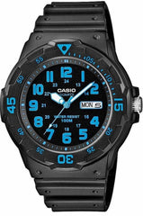 CASIO MRW-200H-2BVEF Black Rubber Strap - Κοσμηματοπωλείο Goldy