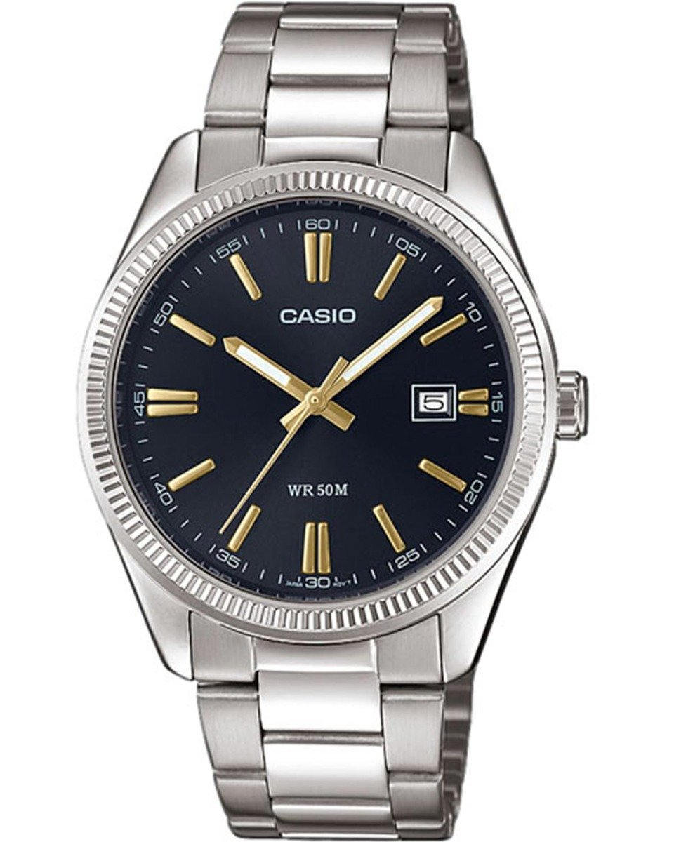 CASIO MTP-1302PD-1A2VEF Stainless Steel Bracelet - Κοσμηματοπωλείο Goldy