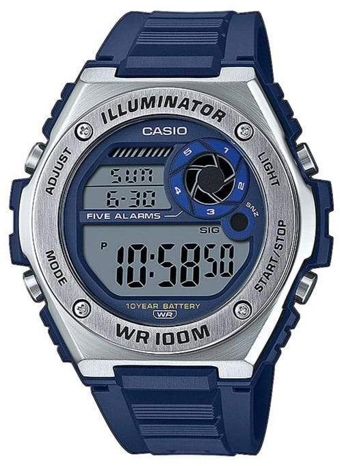 CASIO MWD-100H-2AVEF Collection Digital Blue Rubber Strap - Goldy Jewelry