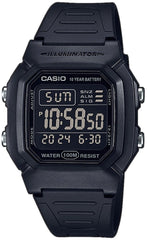 Casio W-800H-1BVES Black Rubber Strap - Goldy Jewelry