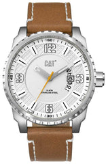 CATERPILLAR AC14135222 Mossville Brown Leather Strap - Goldy Jewelry