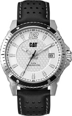 CATERPILLAR CB14134232 Carbon Blade Black Leather Strap - Goldy Jewelry