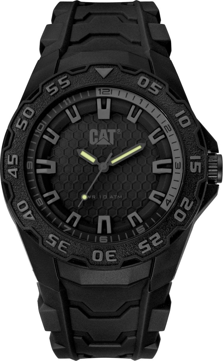 CATERPILLAR LH11021121 Motion 2020 Black Rubber Strap - Goldy Jewelry