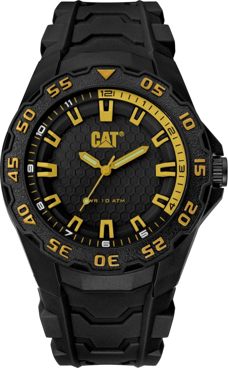 CATERPILLAR LH11021127 Motion 2020 Black Rubber Strap - Κοσμηματοπωλείο Goldy