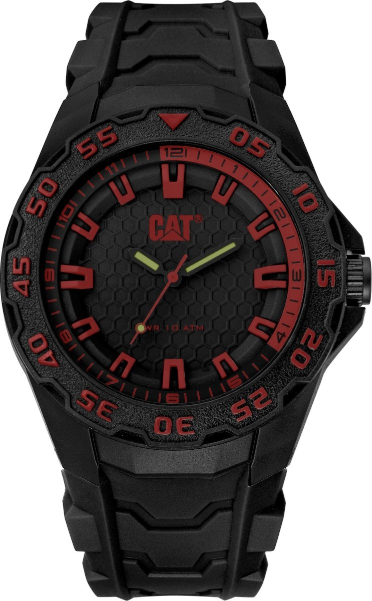 CATERPILLAR LH11021128 Motion 2020 Black Rubber Strap - Κοσμηματοπωλείο Goldy