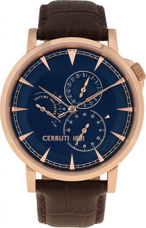 Cerruti CRA24903 Caiano Brown Leather Strap - Goldy Jewelry