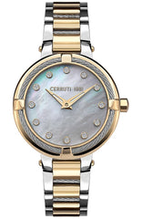 Cerruti CRM29202 Gardena Crystals Two Tone Stainless Steel Bracelet - Goldy Jewelry Store