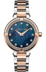 Cerruti CRM29204 Gardena Crystals Two Tone Stainless Steel Bracelet - Goldy Jewelry Store