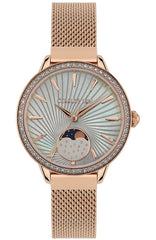 Cerruti CRM29501 Rosara Crystals Rose Gold Stainless Steel Bracelet - Jewelry Goldy