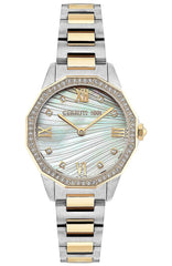 Cerruti CRM29603 Jesina Two Tone Crystals Stainless Steel Bracelet - Goldy Jewelry Store